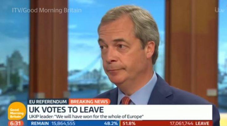 #20160624 #UK #BREXIT #NigelFarage #FakePromise #NigelFaragesBrexitFakePromise #TheIndependentUK referendum: Nigel Farage backtracks on Vote Leave's '£350m for the NHS' pledge hours after result. http://www.independent.co.uk/news/uk/politics/eu-referendum-result-nigel-farage-nhs-pledge-disowns-350-million-pounds-a7099906.html