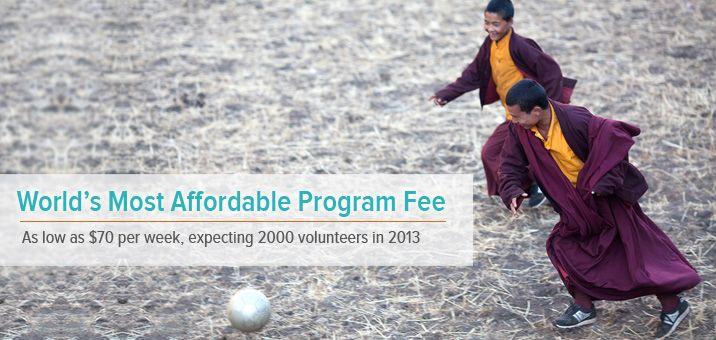 World's best affordable volunteering program....