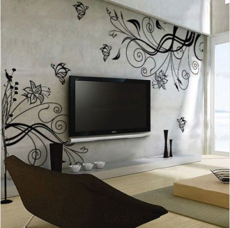 plants vinyl wall sticker art deco floral by yitingsticker on Etsy, $34.00