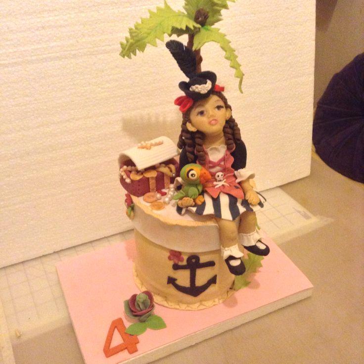 cake niña pirata