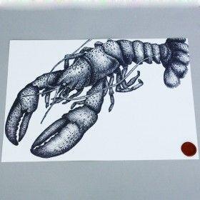 lobster-print-cream-cornwall-maritime