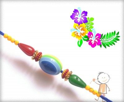Mauli #Rakhi Collection 2016 – Send #Rakhi to #India, #USA, #UK, #Canada, #Australia, #Dubai #NZ #Singapore.  Unique Colorful Beads Blue Thread Rakhi, surprise your loved ones with roli chawal, chocolates and a greeting card as it is also a part of our package and that too without any extra charges. http://www.bablarakhi.com/send-fancy-rakhi-online/897-send-unique-colorful-beads-blue-thread-rakhi-online.html