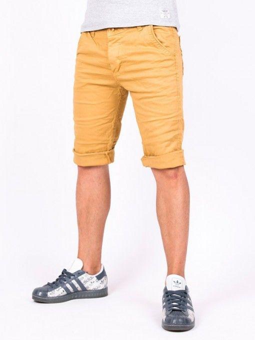 Pantaloni scurti barbati F&M galben nisip