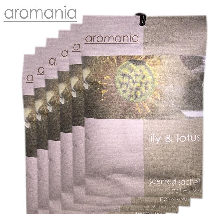 6 Stks/partij Aromania Verse Lelie Geurzakje Geur Lade Sachets Tas Voor Slaapkamer Auto Smaak Geuren Indian Gratis Verzending
