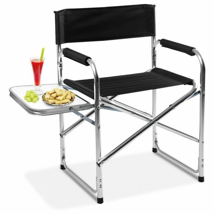 Aluminum Folding Director S Chair Camping Chair With Side Table Go See At Https Www Ebay Com Str Allyourhomest Folding Chair Camping Table Directors Chair