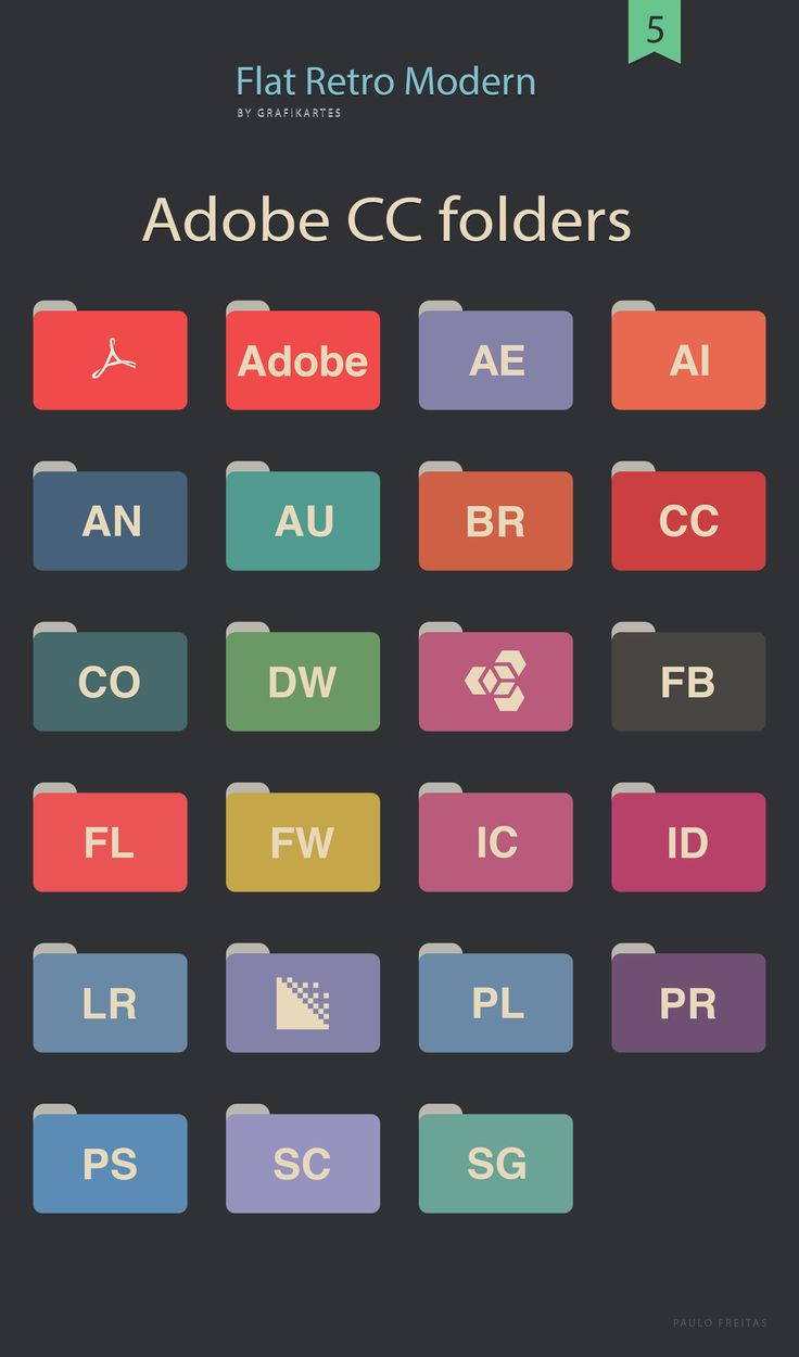 Free Flat Adobe Folders