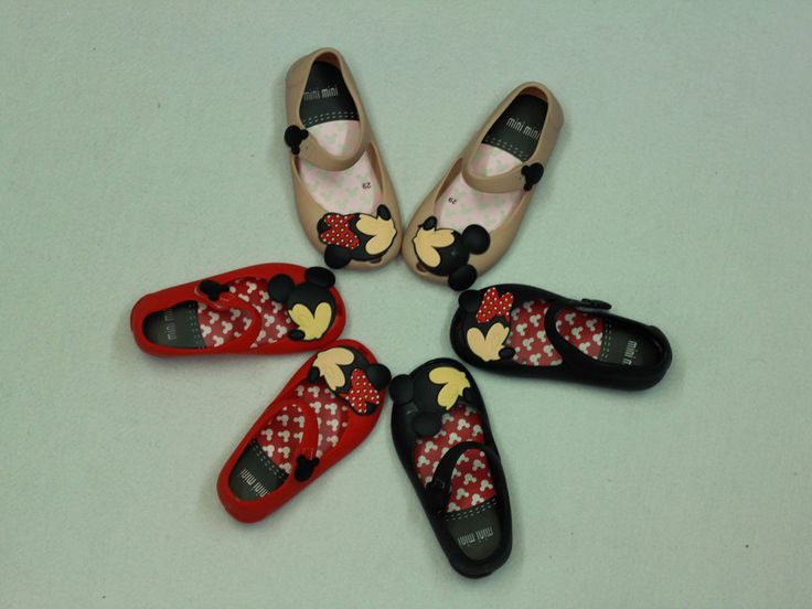 Jelly Shoes Cartoon Mickey Minnie mouse Sandals Kids Toddler mini melissa remake