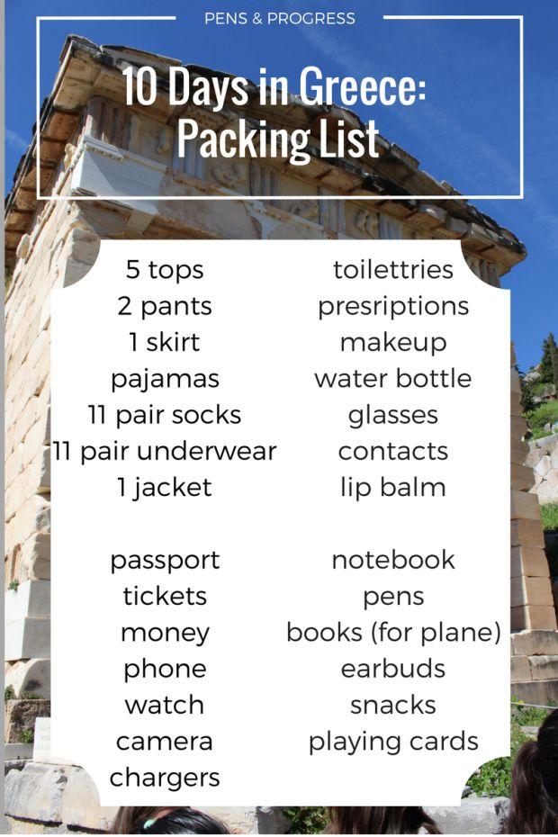 Minimalist Packing for 10 Days of Spring Break in Greece | Pens & Progress
