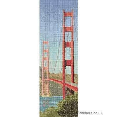 Golden Gate Bridge - John Clayton Internationals Cross Stitch Kit from Heritage Crafts