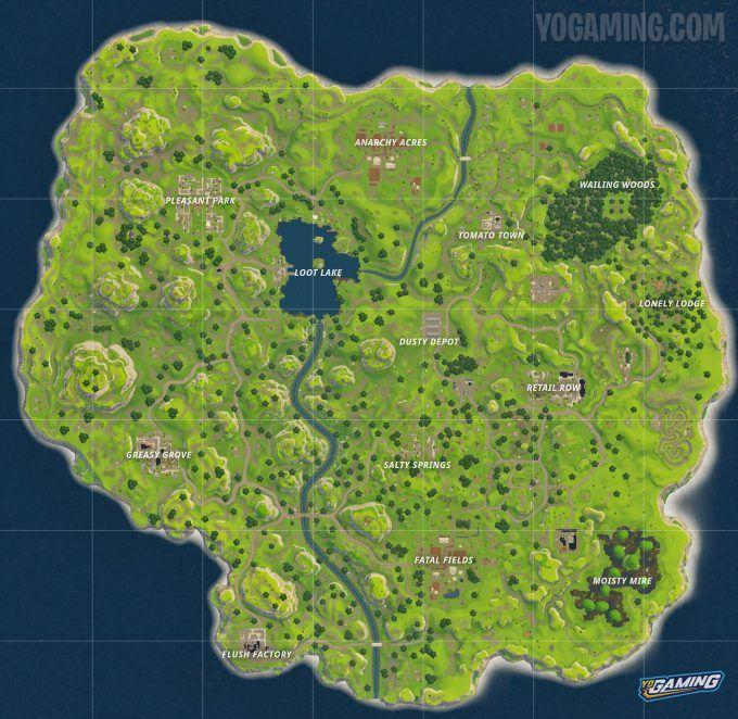 Fortnite Battle Royale Map Evolution Old Map Fortnite Seasons