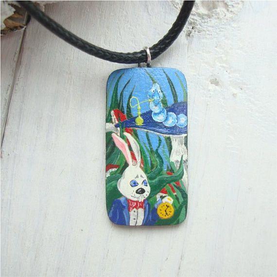 Alice in wonderland alice jewelry white rabbit alice