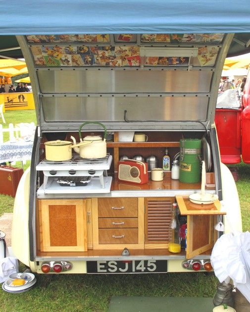 Campers Kitchen- we had a version of this growing up that my grandpa built. Always smelled like the campground...