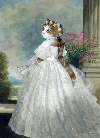 Kitty Art 2 -  Victorian Cat by Susan Herbert
