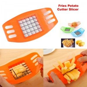 High quality, with stainless steel blades, french fry potato chip cutter – takes seconds to get it done. Product name: potato cut fries weapon (single sale)Size as the picture showMaterial ABS+ steelWeight 70gColor random(Note: sent random color according to our storage!) So what are you waiting for? Come and get this deal only atOshi.pk!