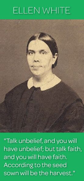 Religious leader Ellen G. White cofounded the Seventh-day Adventist Church and was a prolific author of more than 5,000 articles and 40 books. She also advocated vegetarianism and promoted the establishment of medical centers and schools.