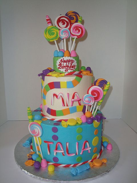 Candy Land Cake by Let There Be Cake, via Flickr