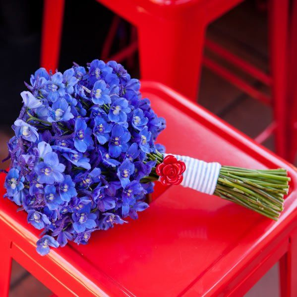 Rustic Red and Blue Inspiration Wedding Flowers Photos on WeddingWire