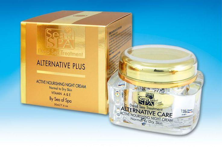 Odżywczy krem na noc . Silnie odżywczy krem na noc zawierający niezwykle skuteczny koncentrat minerałów z Morza Martwego, oleje roślinne, witaminę A, która sprawia że komórki budujące tkanki skóry ulegają odmłodzeniu, witaminę E eliminującą wolne rodniki oraz witaminę F będącą niezbędnym składnikiem , który odgrywa ważną rolę w budowie komórek. Doskonale nawilża , koi i chroni skórę przed wolnymi rodnikami.