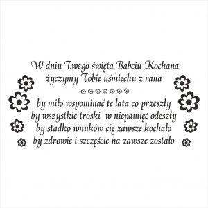 Stempel tekst dla Babci 2