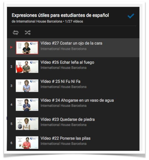Mi última entrada es una actividad para trabajar las expresiones con los vídeos del canal de YouTube de International House Barcelona . http://bit.ly/1PXFn3c