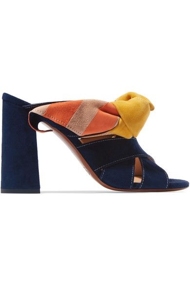Heel measures approximately 100mm/ 4 inches Multicolored suede Slip on Made in Italy As seen in The EDIT magazineSmall to size. See Size & Fit notes.