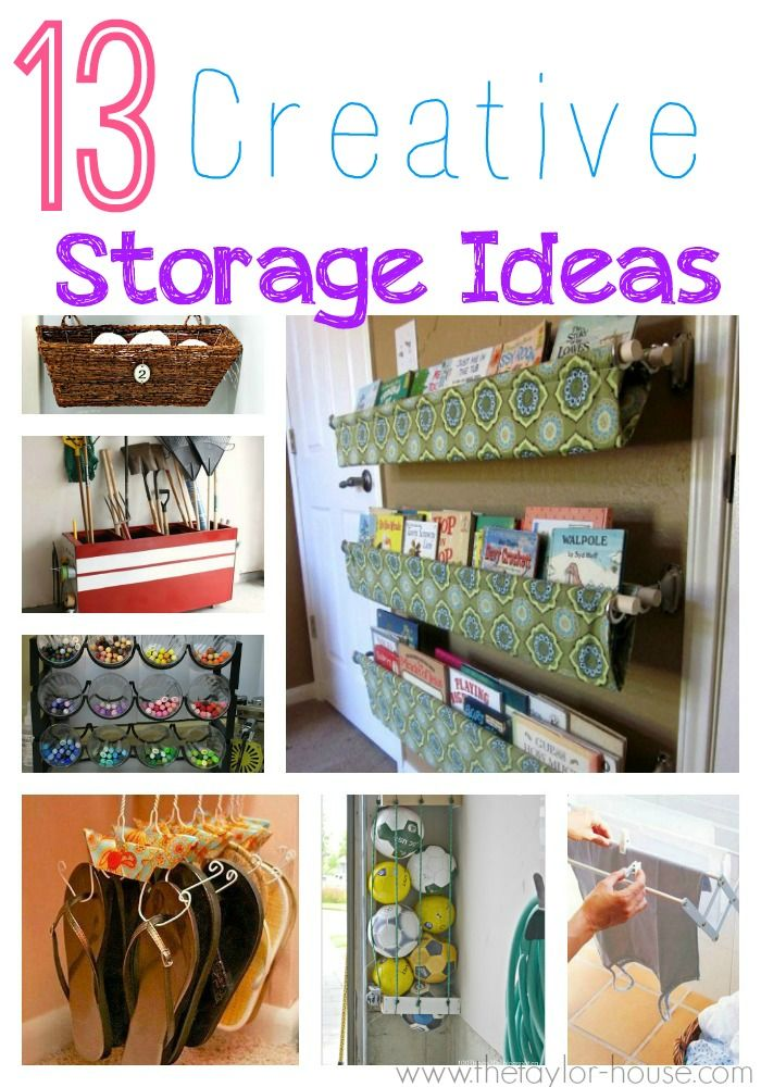 32 best images about organization on pinterest work on for Unusual storage ideas