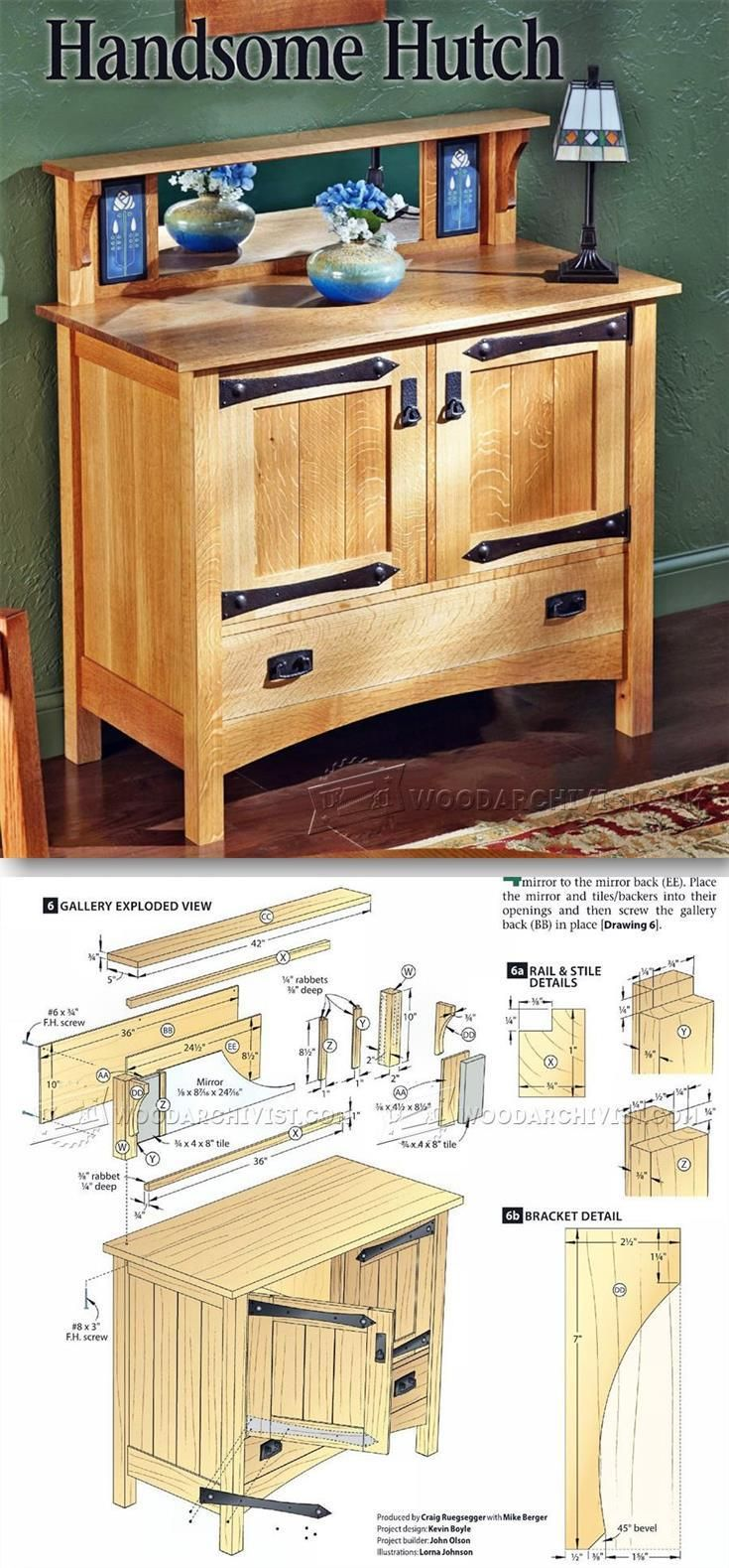 Mission Hutch Plans - Furniture Plans and Projects | WoodArchivist.com