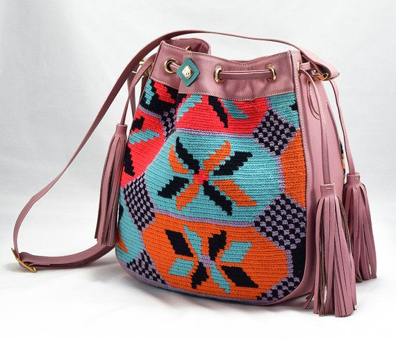 Luxury Mochila Bags with Leather - Paris- Pink