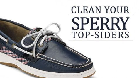 How to clean leather, suede or nubuck Sperry Top-Sider shoes. Great thing to do before they go away for the season and preserve them nicely for next Spring and Summer.
