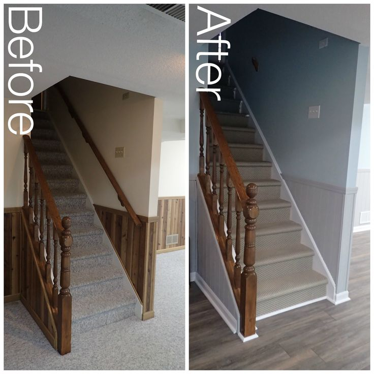 Grey Panelling Under Stairs: 64 Best Nesting The Basement Images On Pinterest