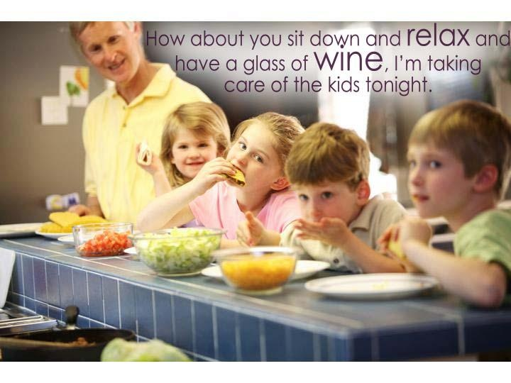 How about you sit down and relax and have a glass of wine, I'm taking care of the kids tonight.: Idea, Healthy Kids, Kids Cooking, Kids Tonight