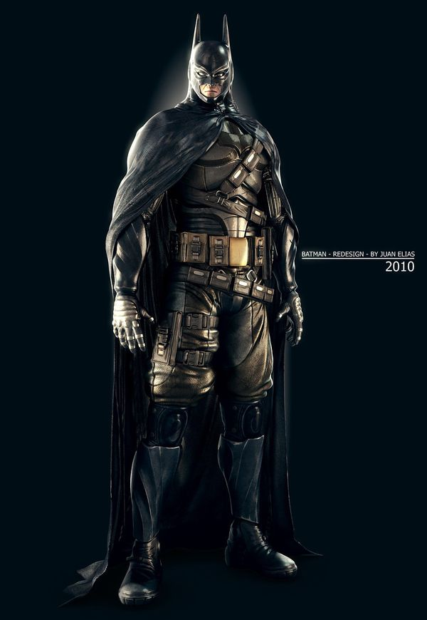 Probably a much more realistic rendition.      BATMAN - redesign by Juan Elias, via Behance