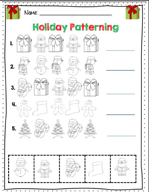 Kindergarten Holiday Math & ELA Activity Set *Common Core