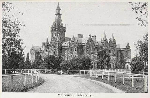 Melbourne University in 1891.