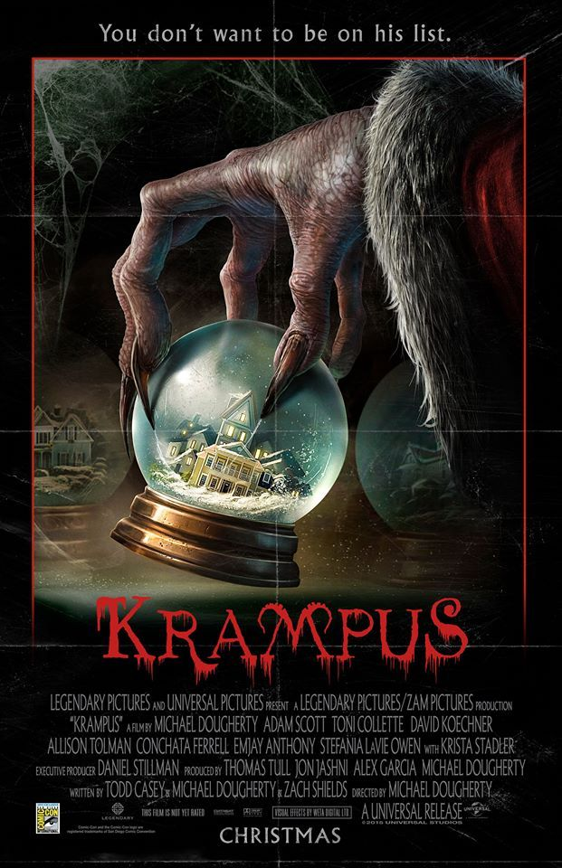 Krampus (2015) Movie Poster.interestingly Kevin Smith also plans a Krampus film https://blogbypaul.wordpress.com/2015/10/05/krampus-is-coming-to-town/