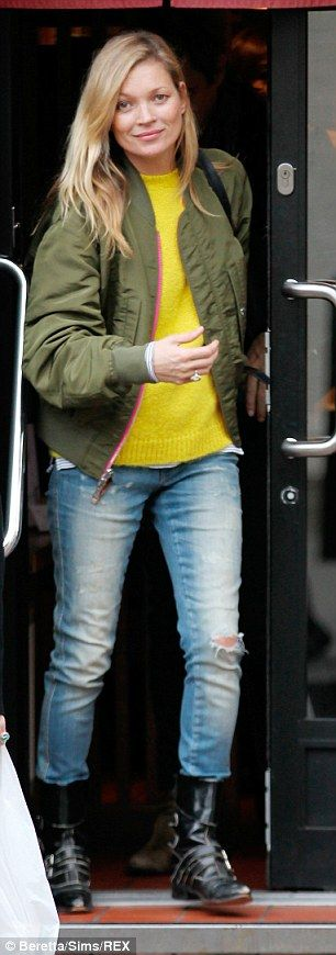 Kate Moss sports her favourite reversible jacket with husband Jamie Hince | Daily Mail Online