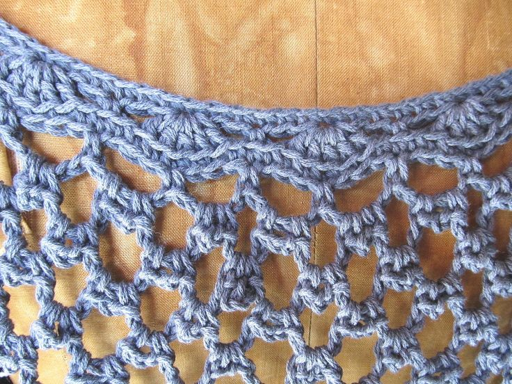 Womens crochet lace top shades of blue spring fashion size