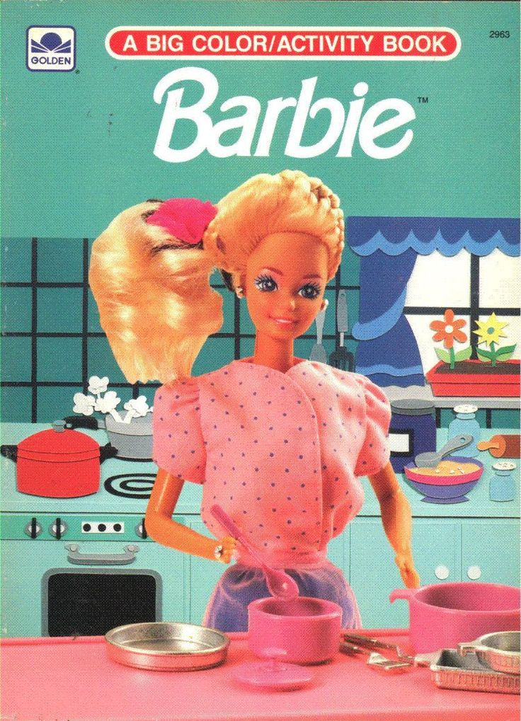 Vintage 1991 Barbie Coloring Activity Book By Golden