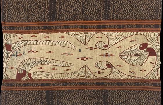 embroidered panel | tapis textile | lampung sumatra indonesia | wereldmuseum rotterdam