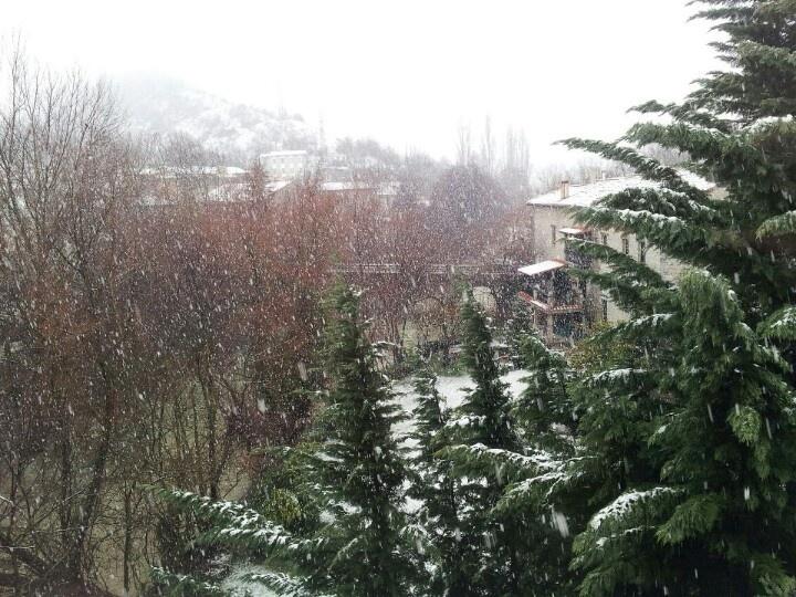 Nevando en Huarte