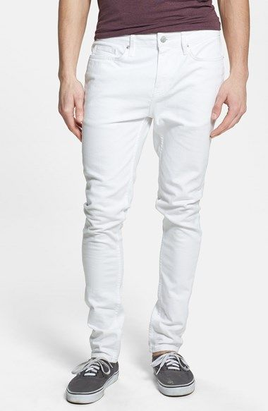 Topman Stretch Skinny Fit Jeans (White) available at #Nordstrom