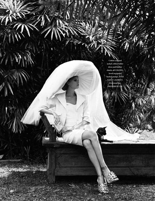 Vita Sidorkina by Wee Khim for L'Officiel Singapore March 2012 as 'Life in Mono'Vita Sidorkina, Wee Khim, Style, Lofficiel Singapore, Singapore Marching, Marching 2012, Fashion Photography, Sun Hats, L Officiel Singapore