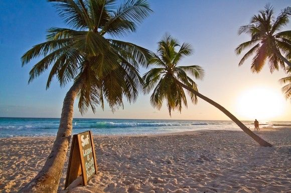 Sometimes--perhaps especially when it's cold and gray outside, like it is today in London--all you really want is a beach. This one, snapped by Flickr user TarikB in Barbados, is particularly compelling. The sand, the setting sun, the bent palm trees, and most of all the ocean are incredibly inviting. Barbados for a late winter jaunt? Who's in?
