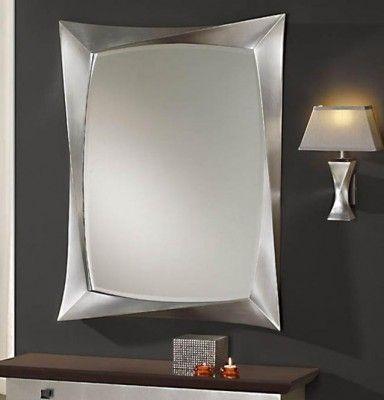Espejos modernos mas de 250 espejo deco decoraci n for Espejos plateados modernos