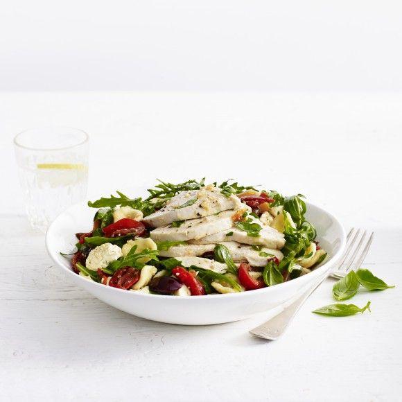 Mediterranean+Chicken+and+Orrechiette+Pasta+Salad