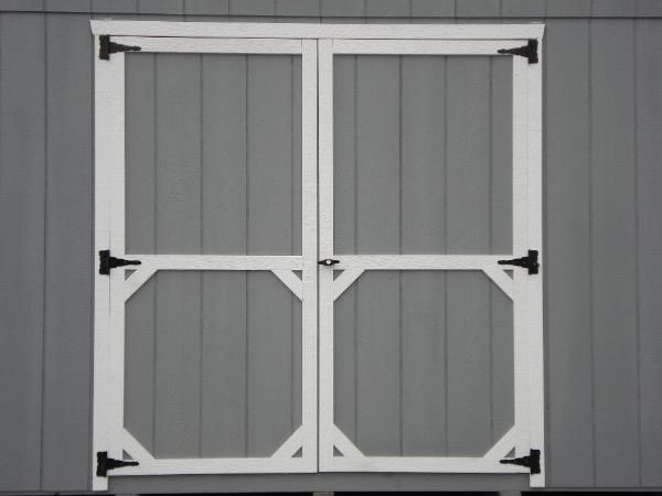 Diy Shed Door Out Of Plywood Patio And Deck Retreats