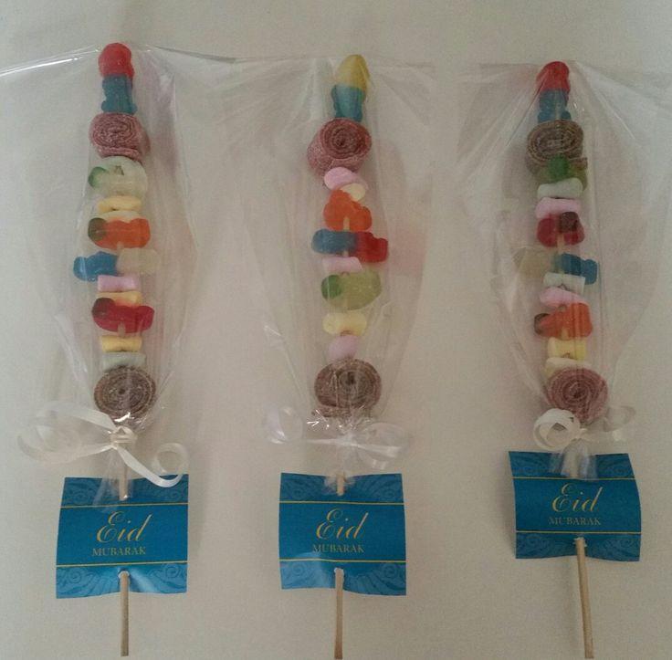 Eid Mubarek Spieß für Kinder zum verschenken. Süßigkeiten. Halal. Sweets forr children, present for Eid