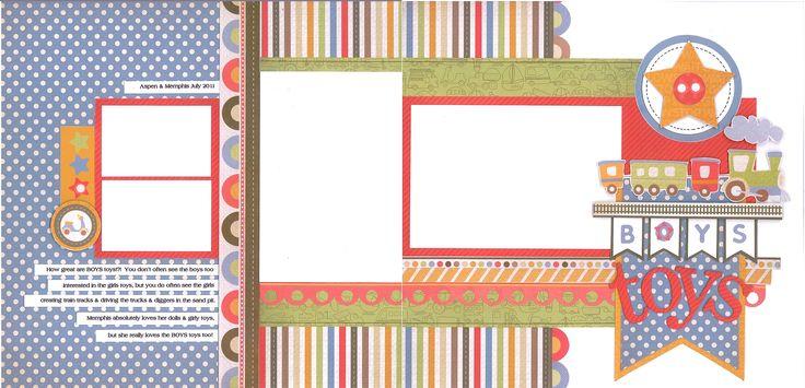 Kaisercraft Kit Klub Double Layout Product Range: Little Toot Designer: Mahlah Lovelock