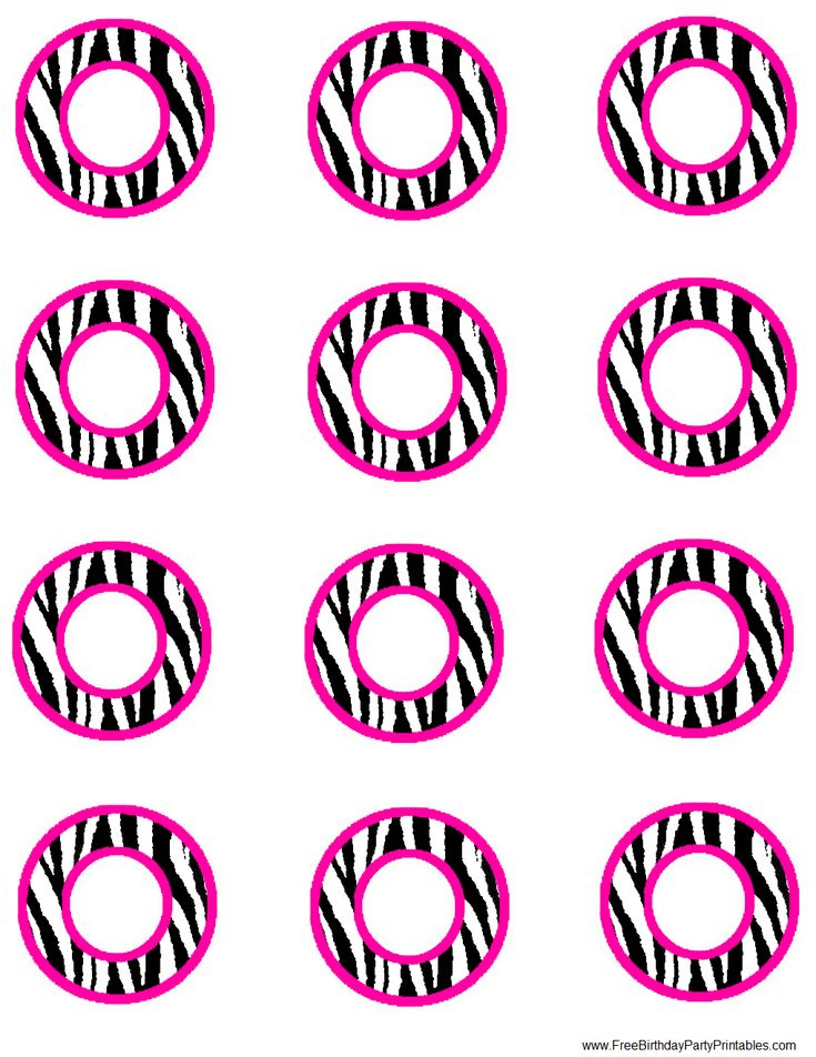 Free Hot Pink Zebra Birthday Party Printables
