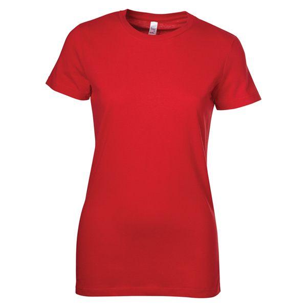Ladies Bella+Canvas (TM) crewneck The Favourite tee, 7 oz., 100% combed, ring spun cotton. Super soft 30 single jersey. Longer length body.